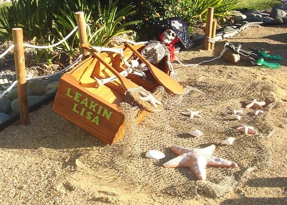Nautical Outdoor Decor Ideas: Nautical Wooden Outdoor Landscape All Cedar Boat By