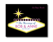 50 Save the Dates or Invitations with Vegas Design