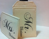 Personalized Mr and Mrs Luggage Tags Wedding Gift, Custom Luggage Tags, Just Married, Bride Groom, Mr. Mrs. Choose your Color