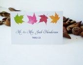 Maple Leafs Place Cards, Escort Cards - DIY Print Yourself Template -Weddings, Parties Instant Download MS Word