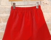 Modern A-line Skirt - Red Cotton Velveteen - Christmas - toddler girls clothing - kids winter fall fashion - sizes 2T 3T 4 5 6 7 8
