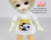 A127 - Felix brownie / Pukipuki / obitsu11cm Outfits (T-shirt and pants)
