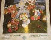 Dimensions Counted Cross Stitch Holiday Stocking Ornaments Kit