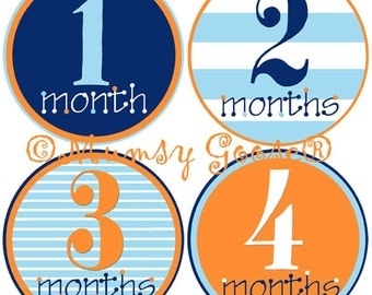 Boy Month Stickers Baby Months Stickers Boy Milestones Baby Age stickers First Year Stickers Boy bodysuit stickers Great Newborn Photo Prop