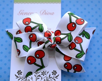 Cherries Classic Diva Bow