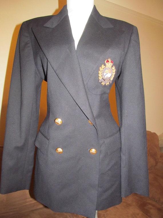 Ralph Lauren Blue Label Navy Blue Wool Prep School Blazer (6)
