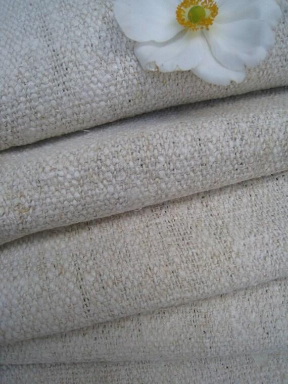 antique hemp linen handloomed rural 13.88 upholstering tablecloth runner 23.22wide PRIMITIVE CUSHY