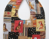 Ready To Ship Reversible Dogs Baby Bib - Puppy Baby Bib - Doggies Baby Bib - Puppies Baby Bib #17