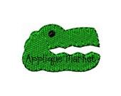 Machine Embroidery Design Gator Head Mini INSTANT DOWNLOAD