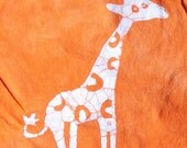 Giraffe Tee Shirt Zoo Batik READY to SHIP SALE African Safari Giraffe Kids Tee Shirt