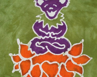 Grateful Dead Dancing Bear Yoga Lotus Batik CUSTOM