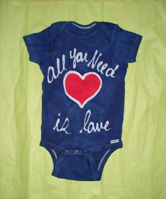 VALENTINES DAY All You Need is Love baby batik by AppleJaxie