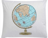 Crams Imperial World Globe  -Original Illustrate Drawing  A4 Print transfer on Pillows, t-shirts, scrapbook, lampshades  ETC.v