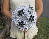 Custom Paper Flower Wedding Bouquet - Made to Order