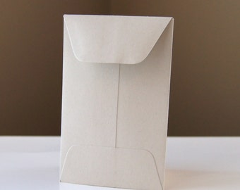 10 Open End Baby Envelopes in CEMENT (light grey) .  2.25 x 3.5