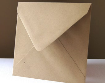 10 Square Envelopes . Paper Bag with Pointed Flap . 5.75 inches