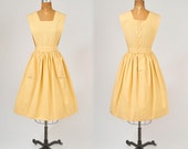 1950's Yellow Apron - Waitress or Workshop Uniform - Back to School