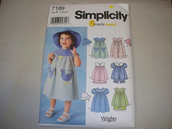 New Simplicity Girl's Dress  Pattern, 7189