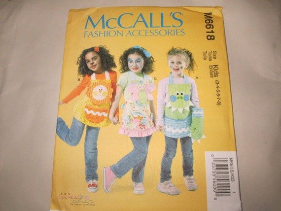 New McCall's Childs' Apron Pattern M6618