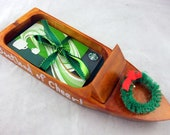 Christmas Gift Wooden Boat for Money or Giftcards - A BOATLOAD of Cheer
