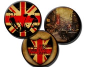 The British Are Coming No1 - Digital collage sheet - 1.5 inch circles