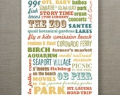 5X7 Recycled Typography Art Print - Summer in San Diego - Indian Summer - TwoPoodlePress