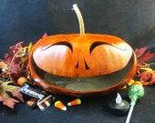 Halloween Gourd Spooky Pumpkin Trick or Treat Decoration (L Size )