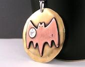 Haunted Halloween Bat Necklace