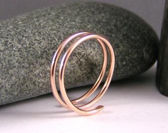Stack Ring, Gold Filled Ring, Rose Gold Ring, Stack Ring, Wrap Ring