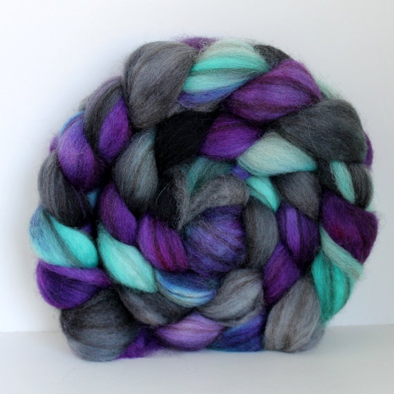 CHILLER-  Mixed BFL Hand Painted Roving - 4ozs