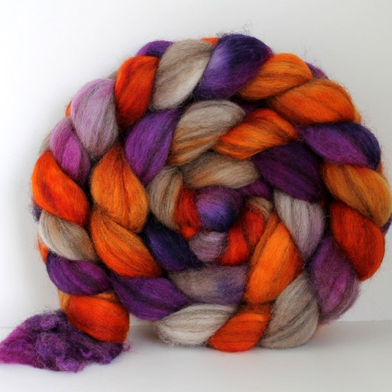 CAMP -  Mixed BFL Hand Painted Roving - 4ozs