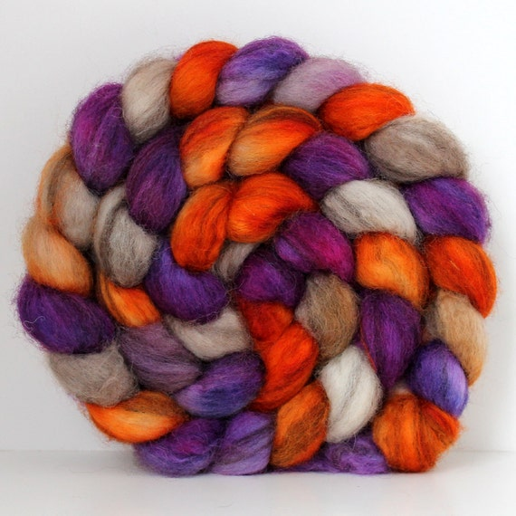 CAMP -  Mixed BFL Handpainted - Hand Dyed Roving - 4ozs for Spinning or Felting