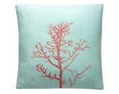 Embroidered Winter Tree Branch Cushion/Pillow Cover