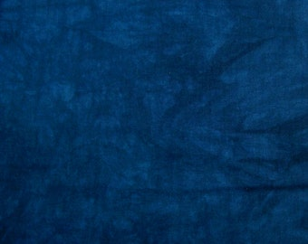 Hand Dyed Cotton Fabric - Up to 4 continuous yards Deep Cobalt