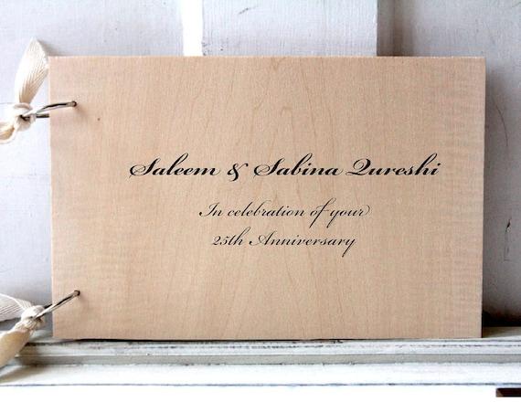 "CUSTOM LISTING - for attiaq - Anniversary Wood Guest book / Album / Notebook (9"" x 6"")"