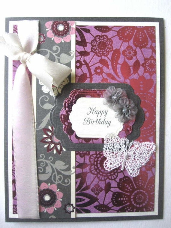 Butterfly Birthday card for female