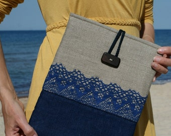 apple iPad Sleeve Case/ three pockets/ padded/ linen