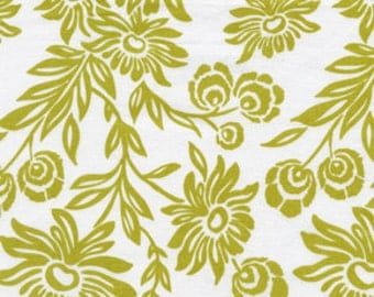 Modern Meadow Handpicked Daisies Fabric in Grass Green by Joel Dewberry FreeSpirit - 1 yard