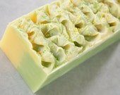 Gingered Bergamot Handmade Cold Process Body Bar With Shea Butter 40 Ounce Log