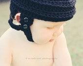 Hockey Helmet Hat - Crochet Photo Prop.