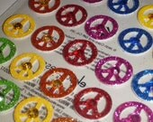 Jolee's Boutique - PEACE SIGN Repeats - Hippy Stickers - Scrapbooking Embellishments - 70's Scrapbook