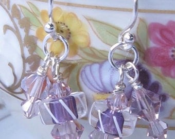 fatdog Earrings - E15 Purple Shorties, Too