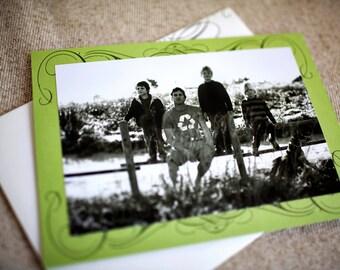 SALE - Decorative Swirls Letterpress Photo Cards