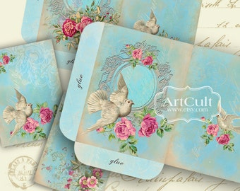 Printable download CHIC ELEGANCE Set of envelopes and victorian style greeting cards print-it-yourself vintage shabby chic Digital Sheets
