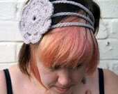 CLEARANCE SALE Crochet Headband - A Delicate Flower in Spring