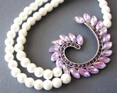 Bridal Jewelry Statement Necklace Wedding Jewelry Purple Necklace Wedding Necklace Bridesmaid Gift