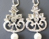 Wedding Earrings Bridal Jewelry Chandelier Earrings Crystal Bridal Earrings Wedding Jewelry Bridesmaid Jewelry Set