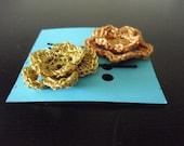 gold rose hair pins
