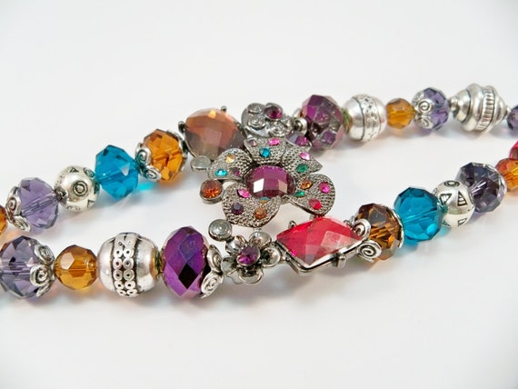 Womens Beaded Double Strand Bracelet Multi-Colored