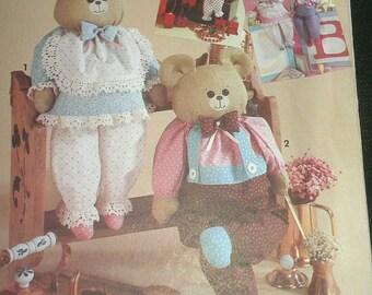 Block Teddy Bear Bunny and Santa Dolls Simplicity 7548